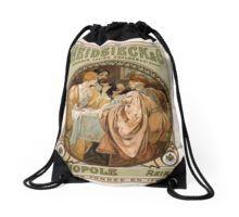 Heidsieck & Co Monopole Reims Champagne Vintage Art Drawstring Bag