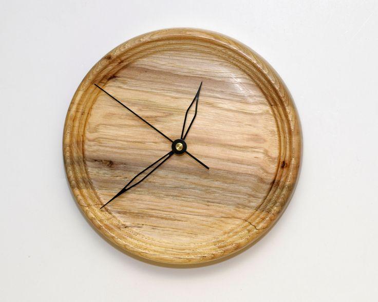 Wood Wall Clock, Turned Wood Clock, Spalted Pecan Wood Wall Clock by WoodArtForLiving on Etsy https://www.etsy.com/listing/75972960/wood-wall-clock-turned-wood-clock