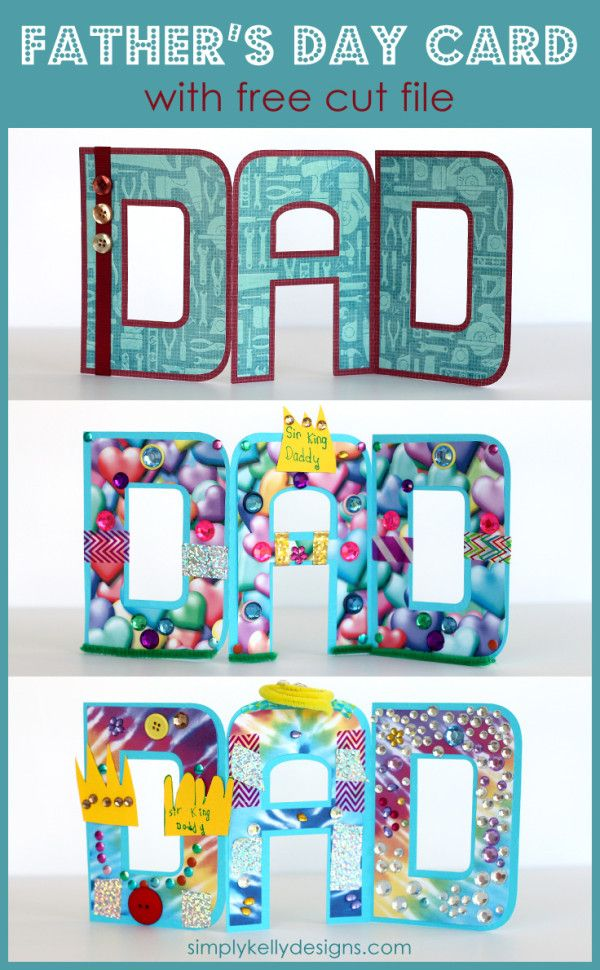 A Silhouette project - DAD accordian fold Father's Day card