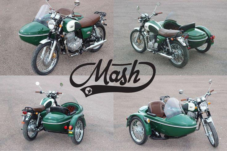 A Mash não pára de surpreender e quando menos esperávamos surge a versão com Side-car da Five Hundred.  #Mash #SóNãoTensUmaMashPorqueNãoQueres #FiveHundred #Sidecar