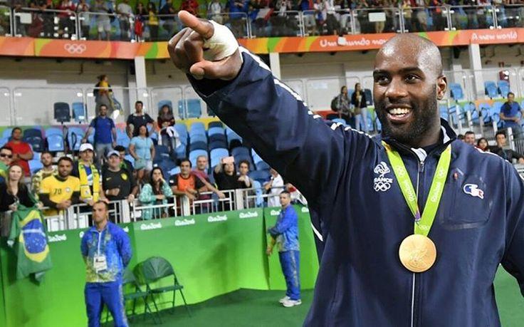 JO Rio 2016  Judo 100kg:  2 olympic Golden medal    3 olympic medal   Teddy Riner    #judo#fight#france#french#winner#teddyriner#champions#history#rio#riodejaneiro#goldenmedal#gold#rio2016#2016#jo#jorio2016#brazil#brasil  Brasil
