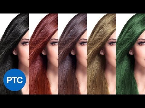 How To Change Hair Color In Photoshop - Including Black Hair To Blonde