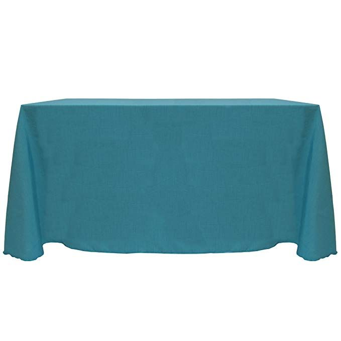 Ultimate Textile 6 ft Fits 30 x 72-Inch Rectangular Tables Aqua Blue Fitted Polyester Tablecloth