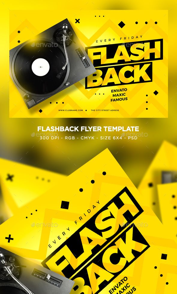Flash Back Flyer With Images Flyer Flyer Template Business