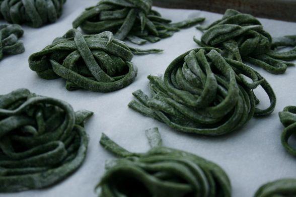 Homemade Spinach Pasta