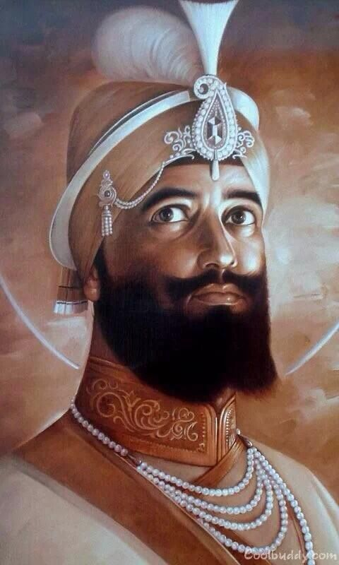 Beautiful portrait of Guru Gobind Singh Ji