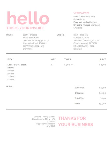 Best Examples Designs Clothing Accessories Images On - Shopify invoice template
