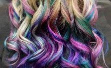 Blonde Hair with Rainbow Underneath - Hair Colors Ideas