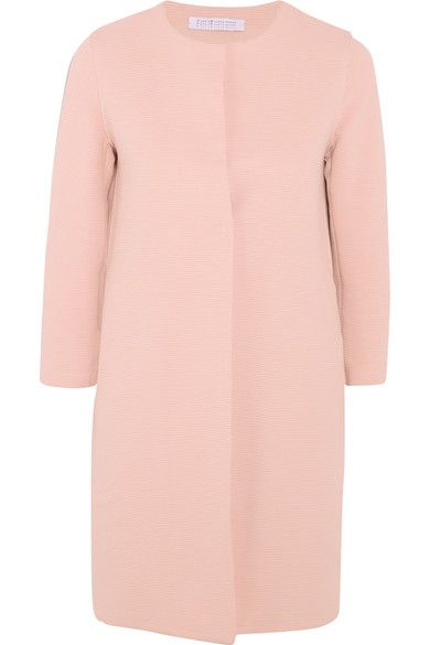Harris Wharf London - Ribbed Stretch Cotton-blend Coat - Blush - IT44