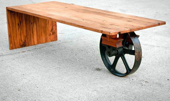 Wheeled Waterfall Coffee Table - Custom Furniture