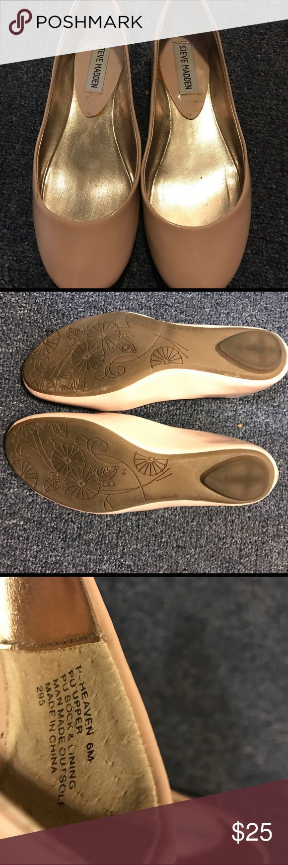 Steve Madden pale pink flats Worn only twice! Pale pink ballet flats Steve Madden Shoes Flats & Loafers