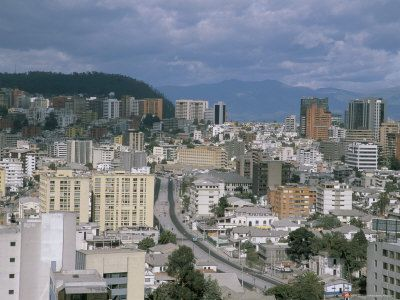 View of the New Town from Hilton Hotel, Quito, Ecuador, South America