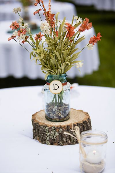 This Beautiful County Chic Wedding Centerpiece is featured on The SnapKnot Blog today.   www.ErikaBrownPhotography.com