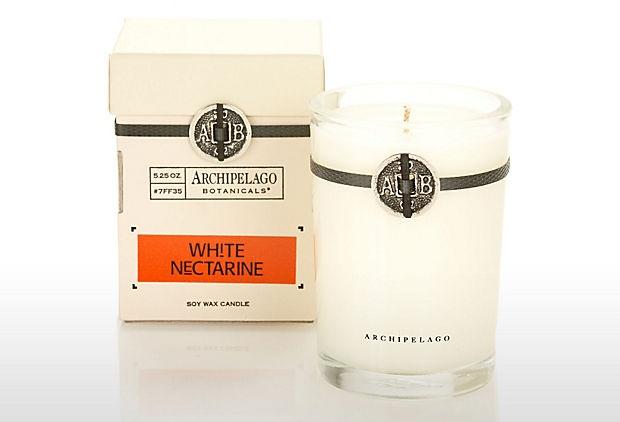 S/2 White Nectarine 5oz Candles on OneKingsLane.com