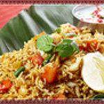 南インド料理ダクシン - 料理写真:野菜ビリヤニ:野菜と香辛料の炊き込みご飯