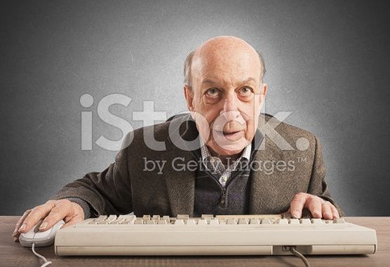 Elderly nerd royalty-free stock photo