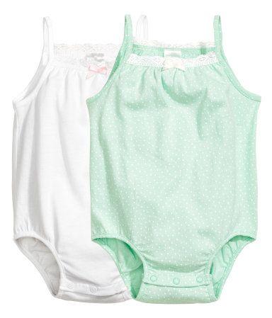 2-pack ermeløse body   Hvit   Barn   H&M NO