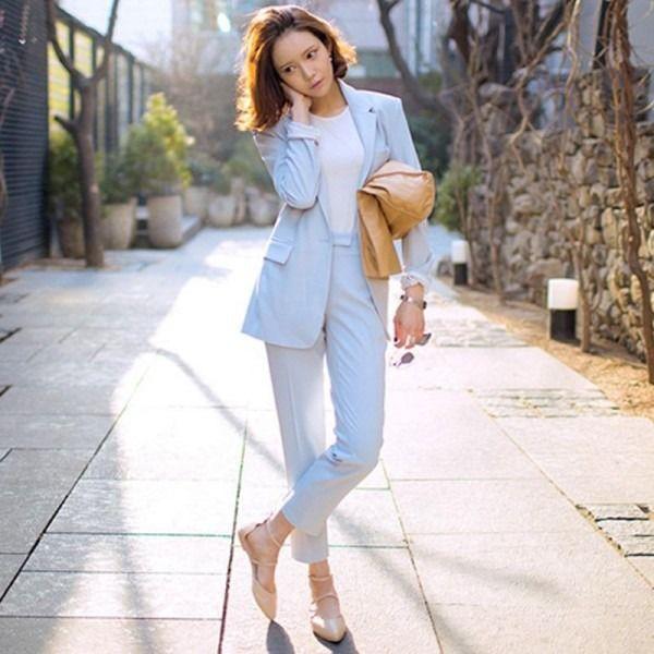 Baby Blue Pants Suit
