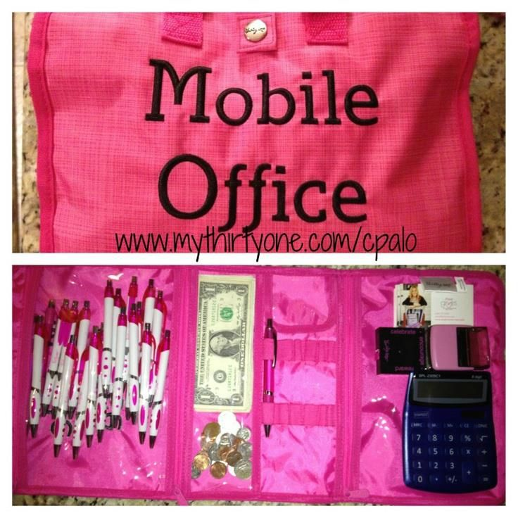 Thirty-One timeless beauty bag for use as a mobile office. Great idea! Ordered! Can't wait for it to come in.