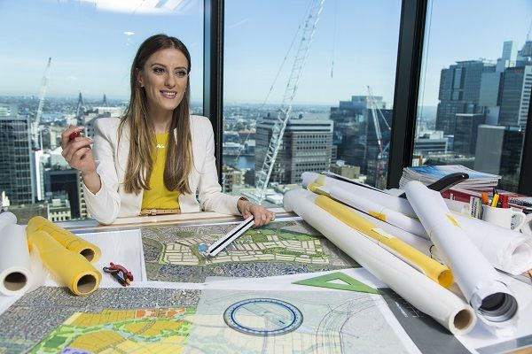 """Rezarta Rushitaj, Civil Engineer - Highways & Bridges, is never bored.  """"As an engineer, it is really exciting when you get to see your project being constructed. You see models and plans of a future road for months, and then to finally see it in real life is truly rewarding""""."""