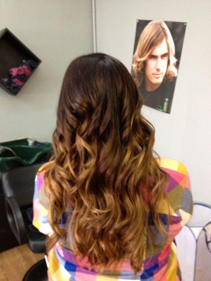 brown to honey blonde ombr233 headquarters hair studio