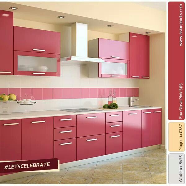 Best 25+ Pink kitchen cabinets ideas on Pinterest | Pink cabinets, Pink  kitchen paint inspiration and Pink kitchens