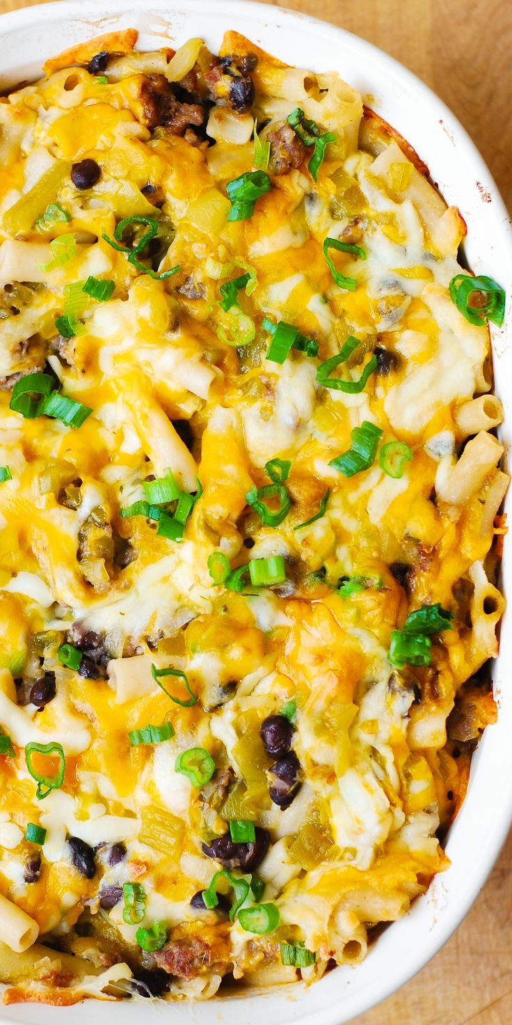 Mexican Mac And Cheese With Black Beans And Sausage Mexican Pasta Mexican Mac And Cheese And