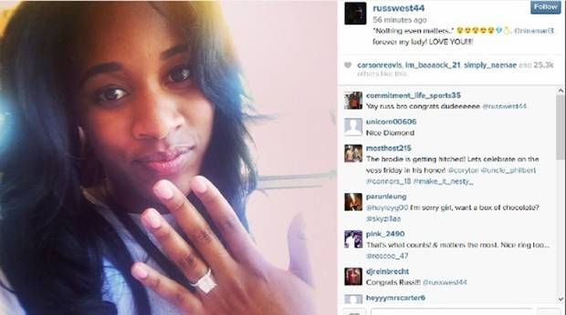 Russell Westbrook, Nina Earl announce engagement on Instagram