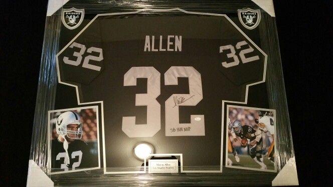 Marcus Allen Framed Raiders Jersey