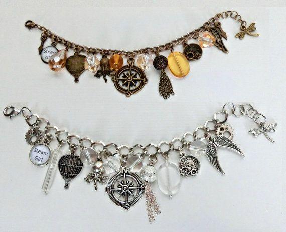 Steampunk bracelet Gear bracelet Silver by 3seasonsBijoux on Etsy