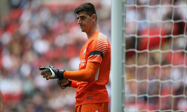 Courtois ridicules drum beat that echoed round Wembley