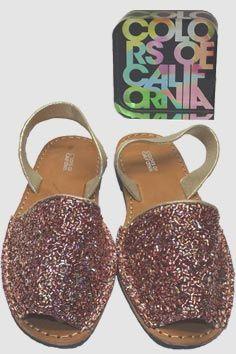 Colors of California - Sandalo rosa, per le tue serate scintillanti senza rinunciare al comfort.