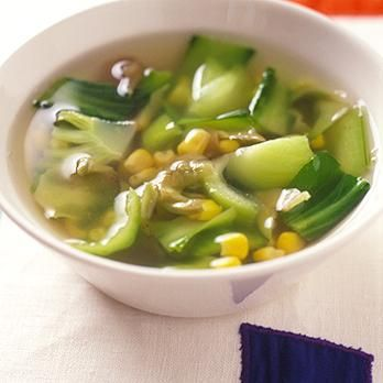 チンゲンサイとザーサイのスープ