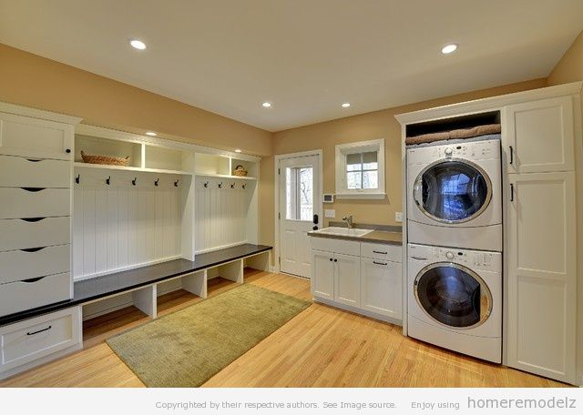 Love this cause it reminds me of a laundry mat. Maybe we could set our laundry up like a laundry mat?