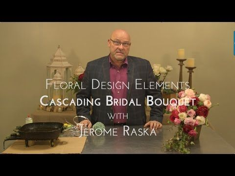 Blog of Mayesh Wholesale Florist - Floral Design Elements: Cascading Bridal Bouquet with Jerome