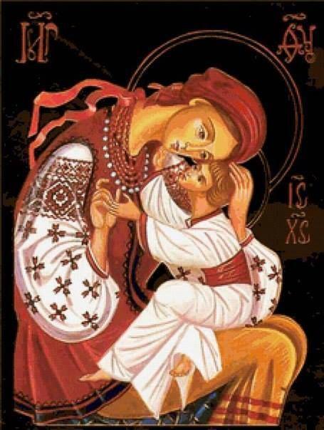 Mother of God... Ή Παναγία μας μέ τό μικρό παιδί της, τόν Κύριο ήμών Ίησού Χριστό σέ μιά πολύ τρυφερή στάση...