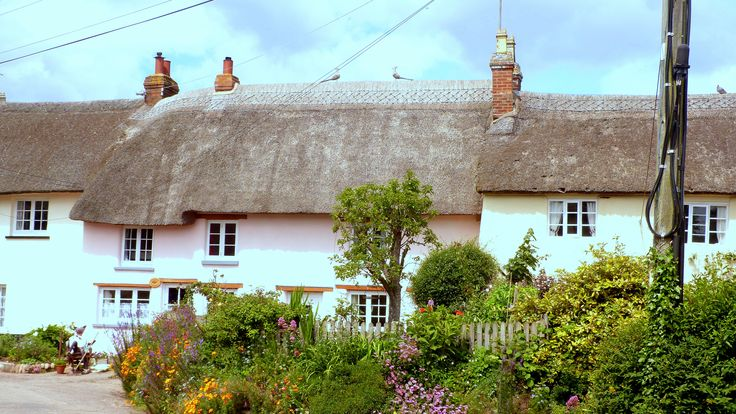 East Budleigh cottage on Scarecrow Sunday in East Devon