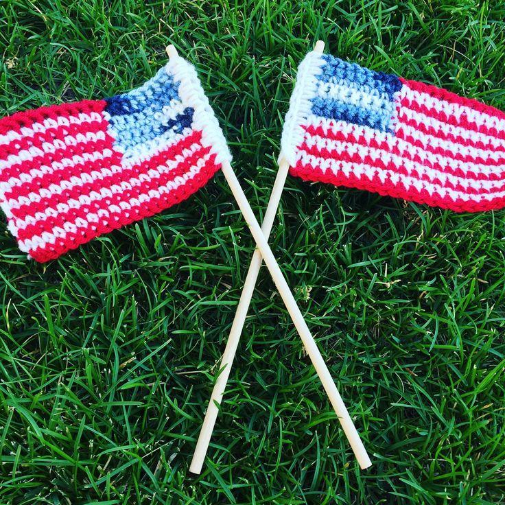 Crochet United States Flag Photo Tutorial