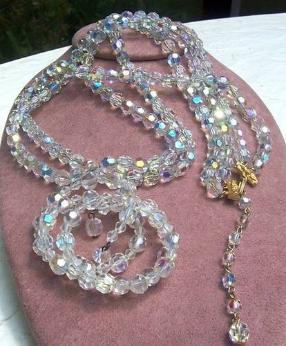Crystal necklaces were like strands of pearls, everyone had one in the 1950s.