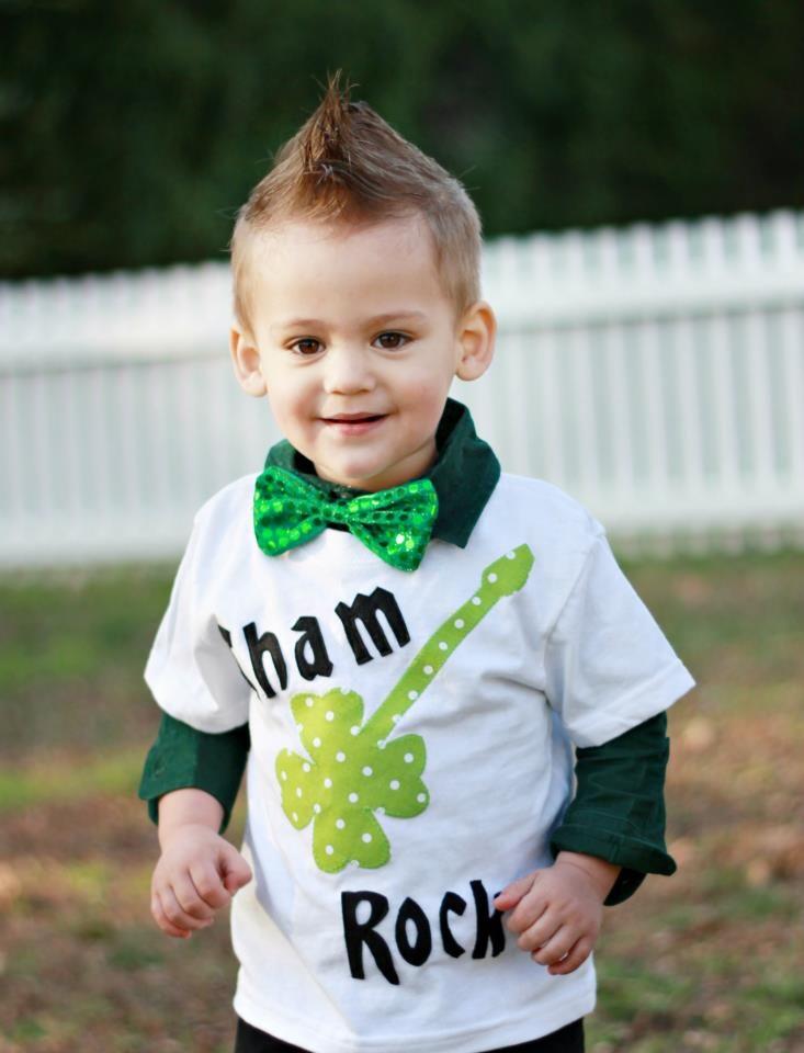 Boys St. Patrick's Day shirt shamrock