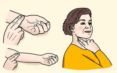 Tunnustele pulssiasi. Tunnet pulssisi ranteesta, kyynärtaipeesta tai kaulalta.