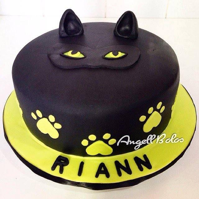 Bolo Cat Noir Miraculous Ladybug Birthday Cake Cat Noir Birthday Cake Cat Noir Cake