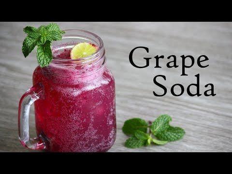 Grape Soda Recipe-Refreshing Summer Drink Grape Juice - Foodvedam
