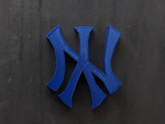 New York Yankees Logo Shelf Display Sports Logo Sign Sports Fan Collector Sports Memorabilia N Yankees Logo New York Yankees Display Shelves
