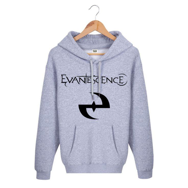 Hot Sale 2016 New Winter Fashion Casual Regular Black Printed Evanescence Rock Band Brand Mens Hoodies And Sweatshirts #Affiliate