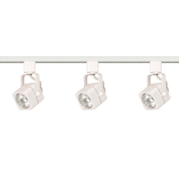 7 best track lighting spots images on pinterest kitchen lighting nuvo tk345 white 3 light mr16 square track kit line voltage mozeypictures Image collections