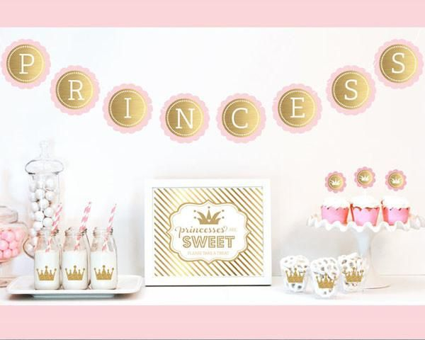 Celebrate your special Princess Party with a little glitz and glam with our Gold & Glitter Princess Party Decor Kit. Each Kit includes Metallic Foil an...