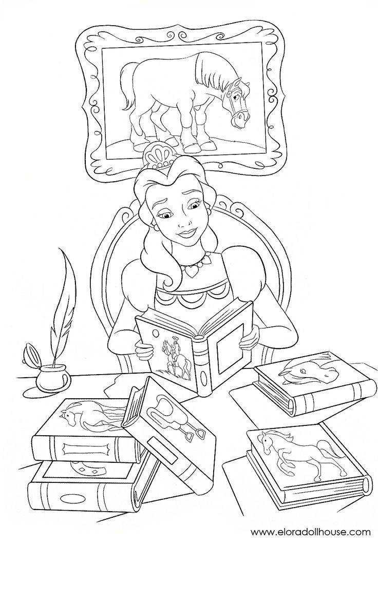 Inuyasha coloring book - Beauty And The Beast Coloring Page