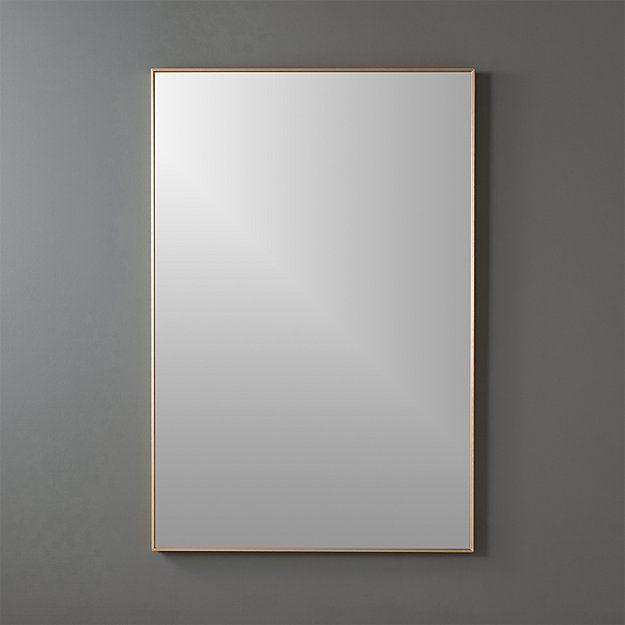 Infinity White Mirror Rectangular 24 X36 Reviews Cb2 In 2020 Rectangle Mirror Gold Mirror Wall Mirror Wall