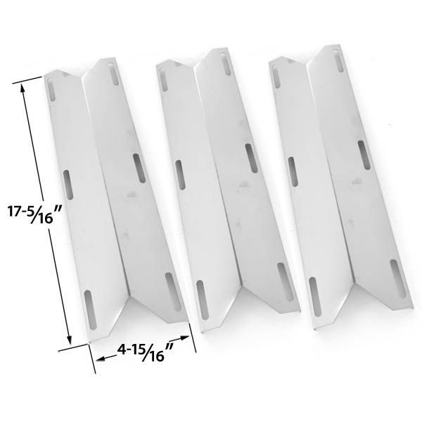 3 PACK STAINLESS STEEL HEAT SHIELD FOR MEMBER'S MARK, GRAND ISLE, PERFECT FLAME & SAMS GAS GRILL MODELS  Fits Charmglow Models : 720-0304, 720-0396, Home Depot SS 4 burner (720-0304), 720-0536, , 720-0289, 720-0578 Duro: 720-0584A Fits Grand Isle Models : 860-0193 Fits Kirkland: 720-0433, 720-0432 Fits Member's Mark: 720-0584 Fits Nexgrill: 720-0304, 720-0433, 720-0677, 720-0396, 720-0522CAN, 720-0536, 720-0582, 720-0584A, 730-0396 Fits Perfect Glo: PG-50401S, PG50400S, PG50401S, PG50403SQL…